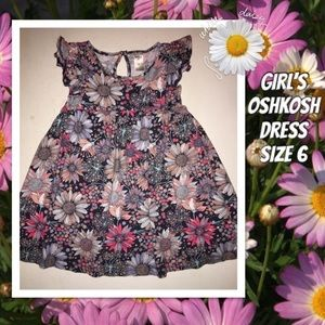 Girl's Oshkosh Floral Daisy Dress size 6